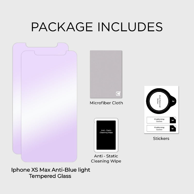 2x Anti Blue Light Screen Protector - iPhone XS Max