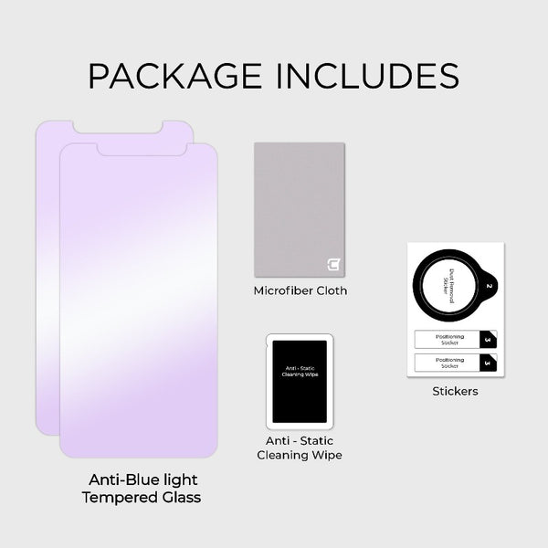 2x Anti Blue Light Screen Protector - iPhone X/XS