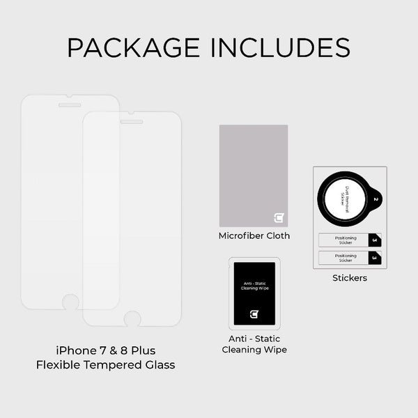 2x ScreenFlex Screen Protector - iPhone 7 Plus / 8 Plus