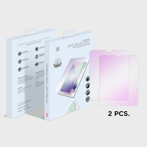 2X Anti Blue Light Screen Protector - Apple Ipad 10.2 Inch (2020) Anti-blue Light Tempered Glass