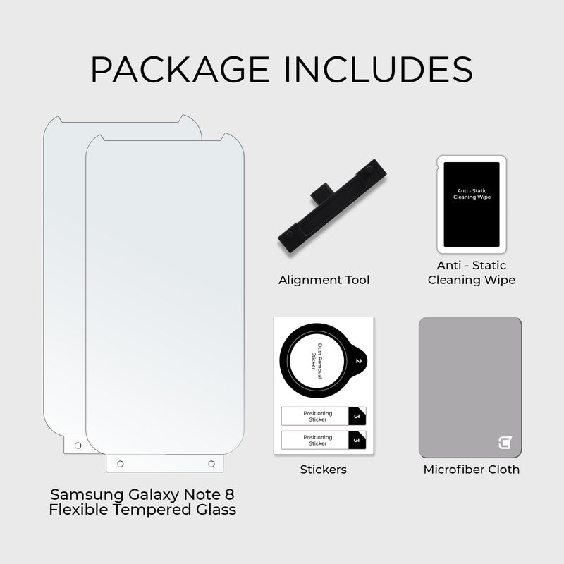 2x ScreenFlex Screen Protector - Samsung Note 8