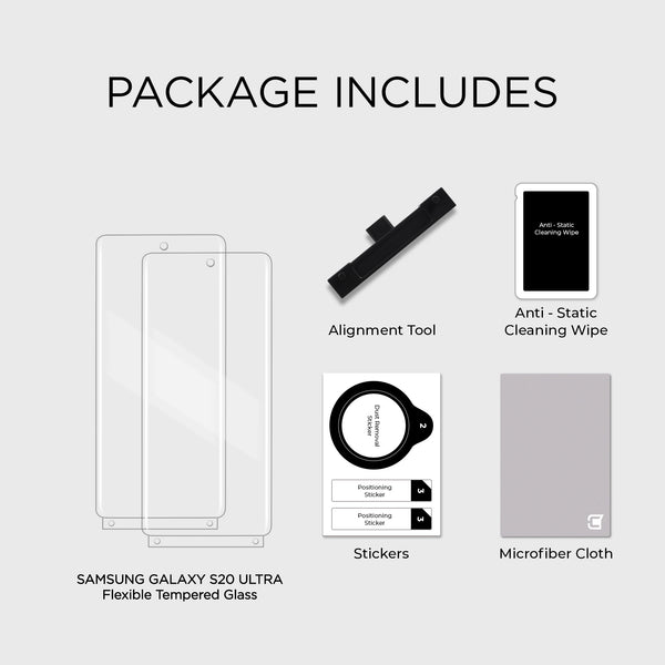 2x ScreenFlex Screen Protector - Samsung S20 Ultra