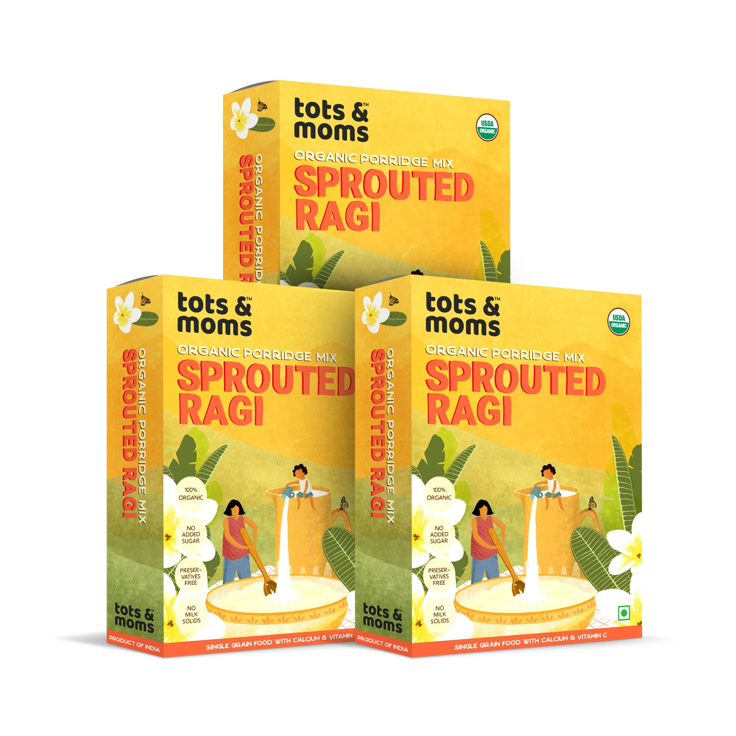 Sprouted Ragi Powder - Pack of 3