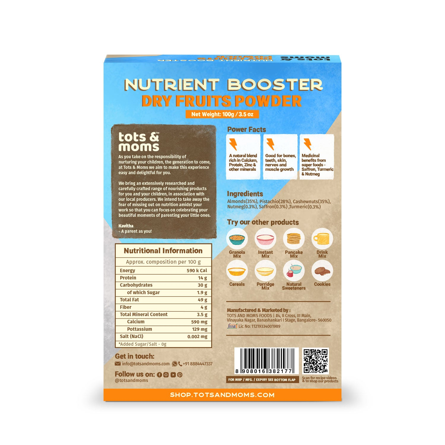 Dry Fruits Powder | Nutrient Booster - 100g