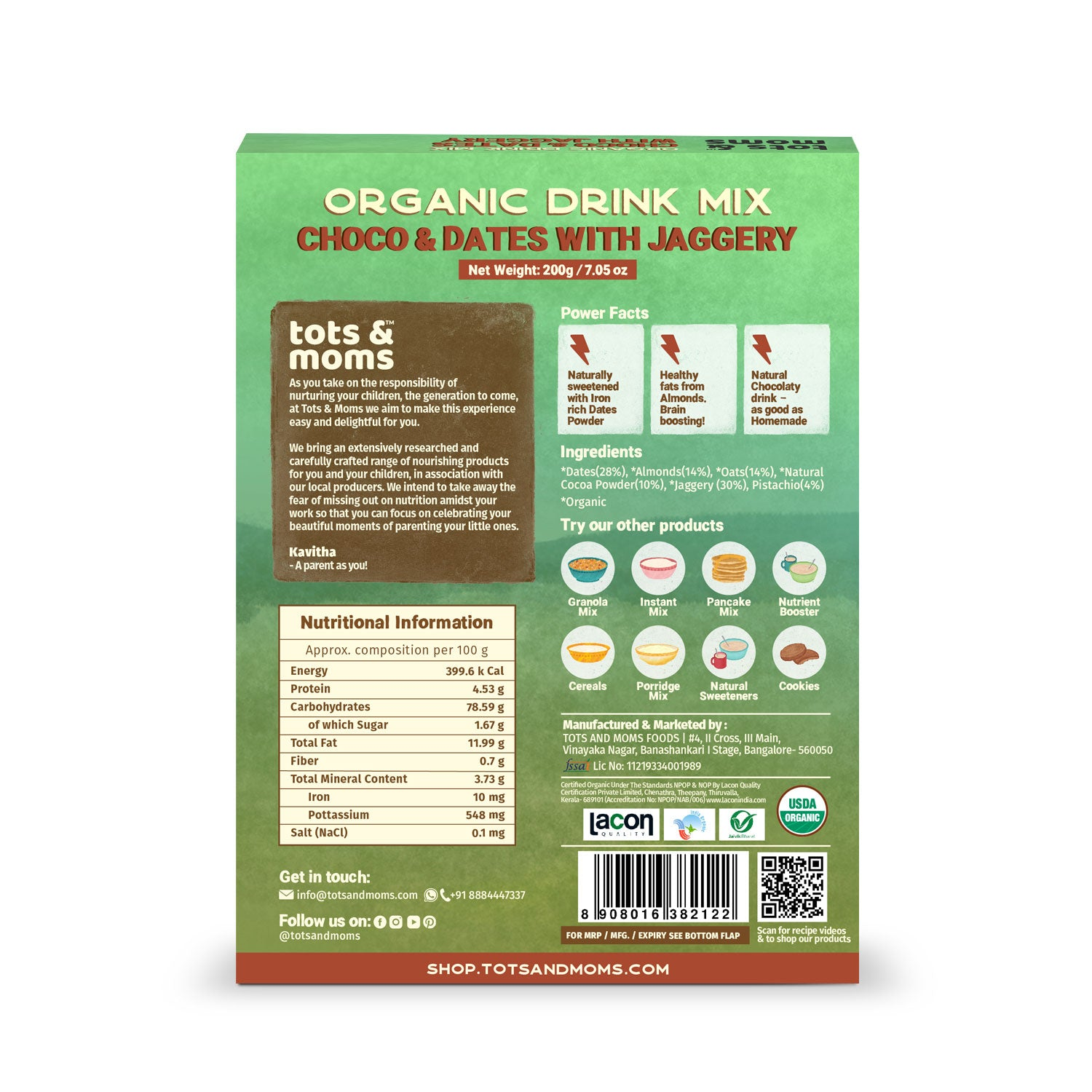 Choco Dates with Jaggery Drink Mix - 200g
