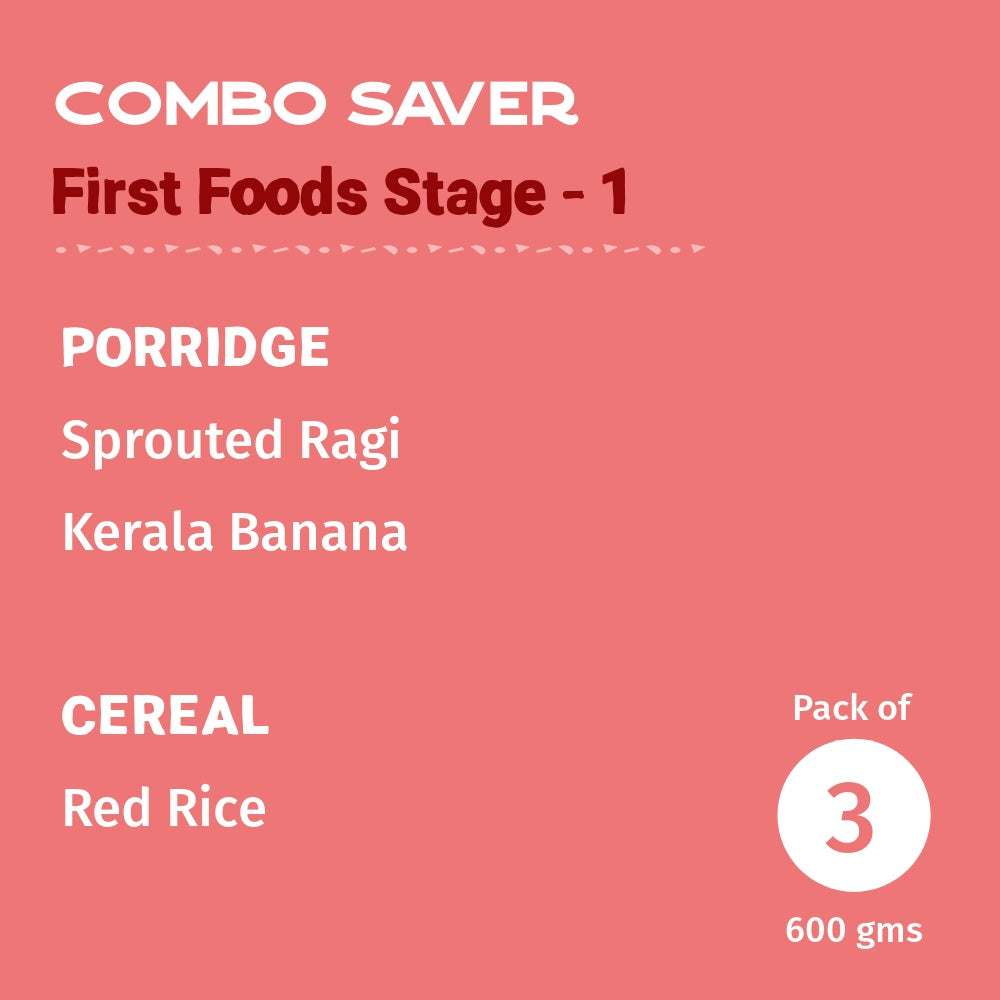 First Foods - Stage 1 Combo- Pack of 3