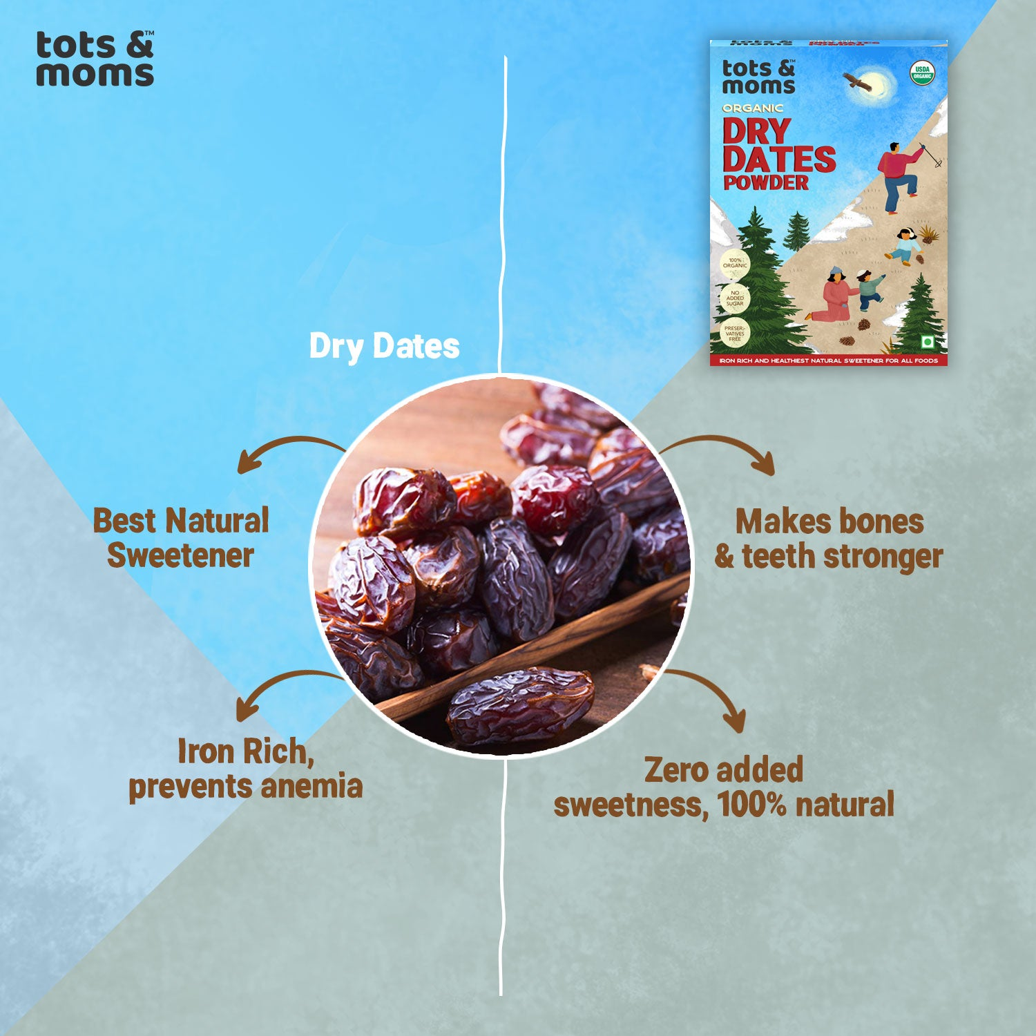 Dry Dates Powder - Pack of 3