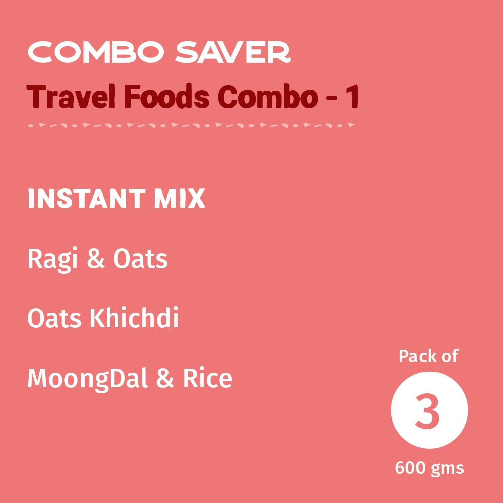 Travel Foods Combo- 1- Pack of 3