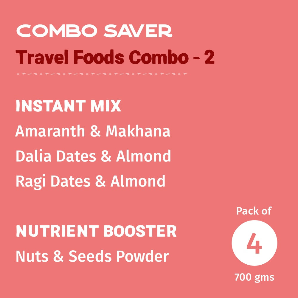 Travel Foods Combo- 2 - Pack of 4
