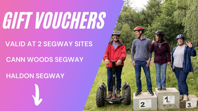 Plymouth Segway Gift vouchers Cann Woods