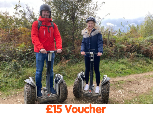 £15 Money Value Voucher Used Against Any Package - Segway Plymouth Devon Cann Woods