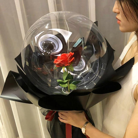 The Rose Balloon Red Black