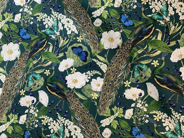 1//2 Meter Peacock Arbor Floral Sewing Quilting Cotton Fabric