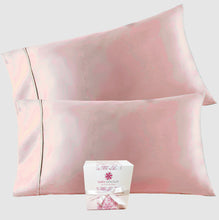 Load image into Gallery viewer, Handcrafted Mulberry Silk Pillowcase - Pink Blush