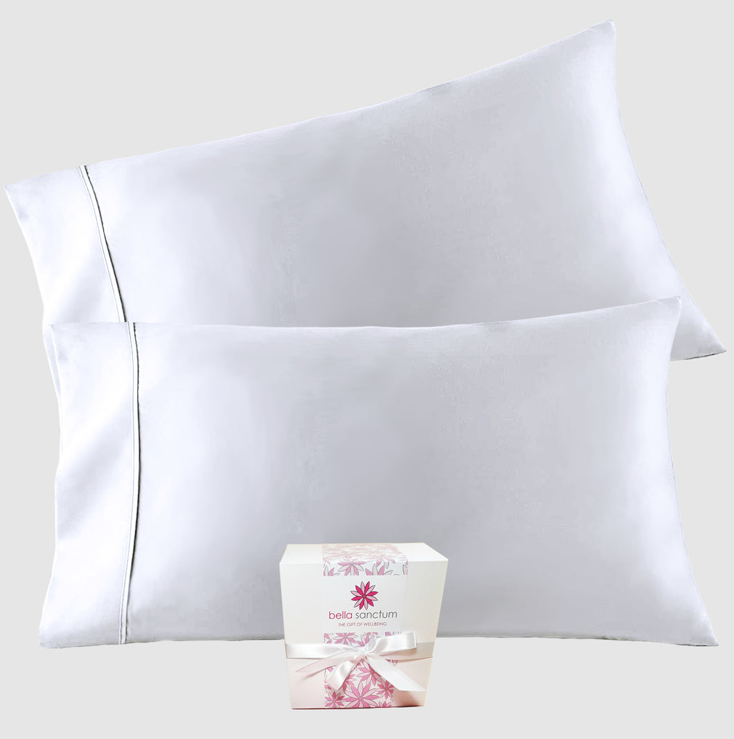 Handcrafted Mulberry Silk Pillowcase - White