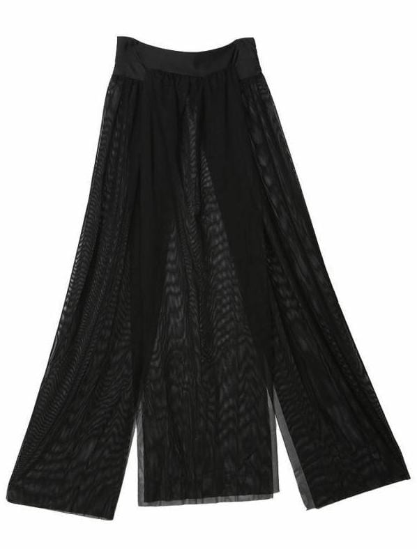 Black Beach Maxi Skirt
