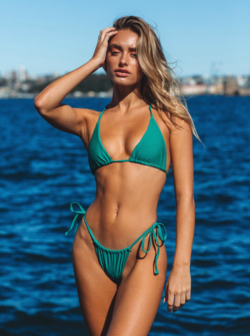 Emerald Green Triangle Bikini Top