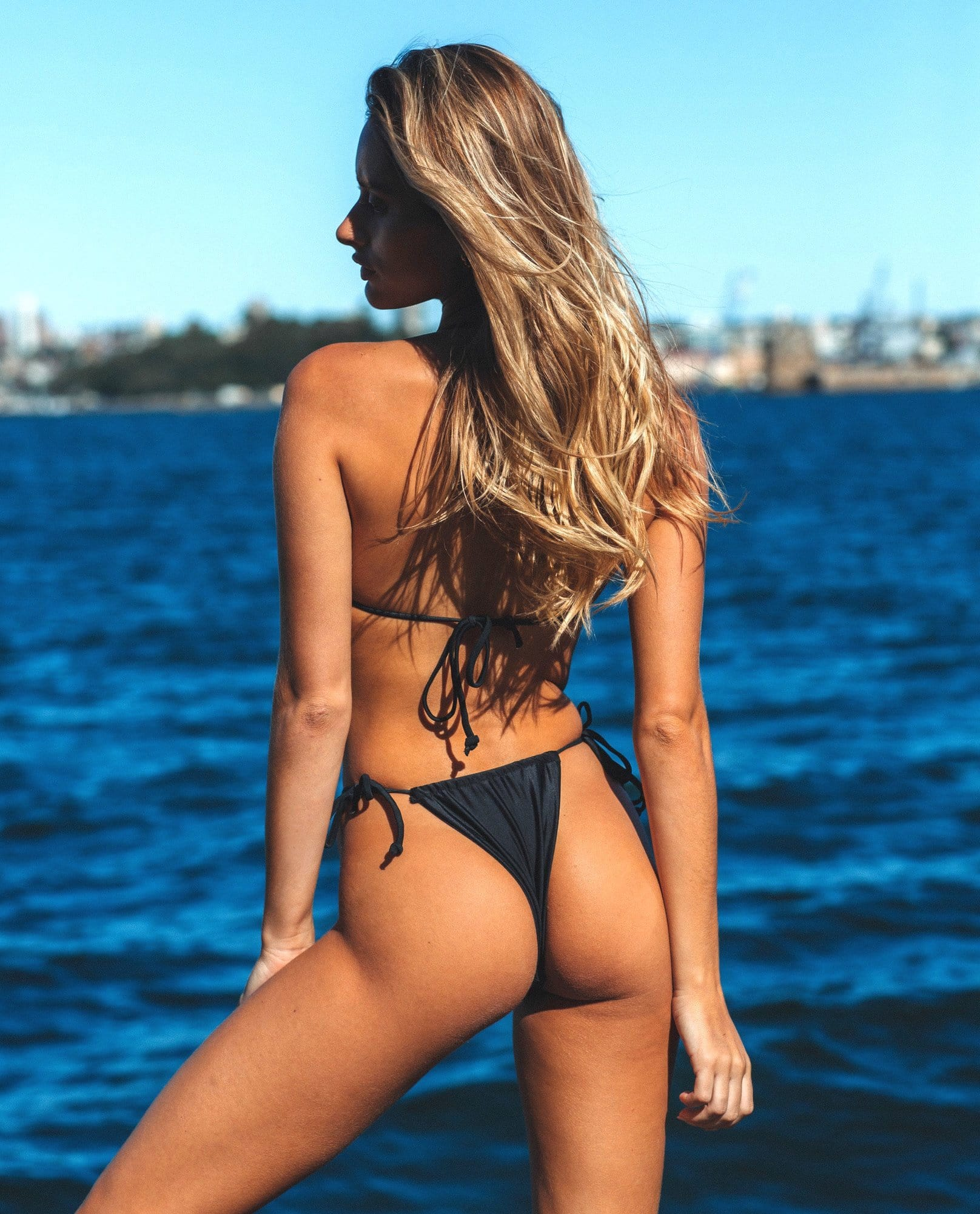 Black Tie Side Bikini Bottoms