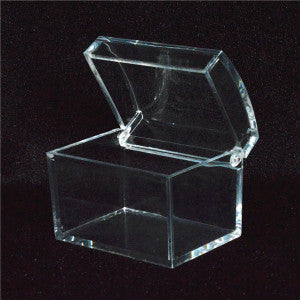 Blank Acrylic Treasure Chest Favor Gift Boxes x 12