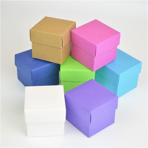 Cube Blank Favor Boxes Packaging Boxes Gift Boxes Pack of 10 Choose Colour