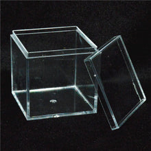 Load image into Gallery viewer, Blank Cube Acrylic Favor Gift Boxes x 12