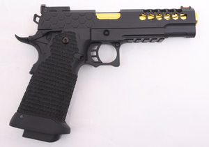 5.1 Hi-Capa Golden Eagle Metal CNC Hex Cut Gas Blowback Gel Blaster Pistol - G99