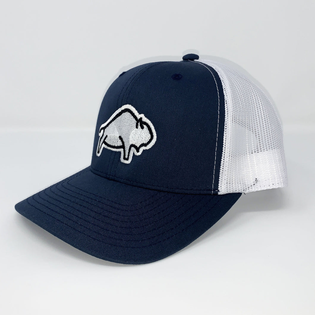 Bison - Navy/White Mesh