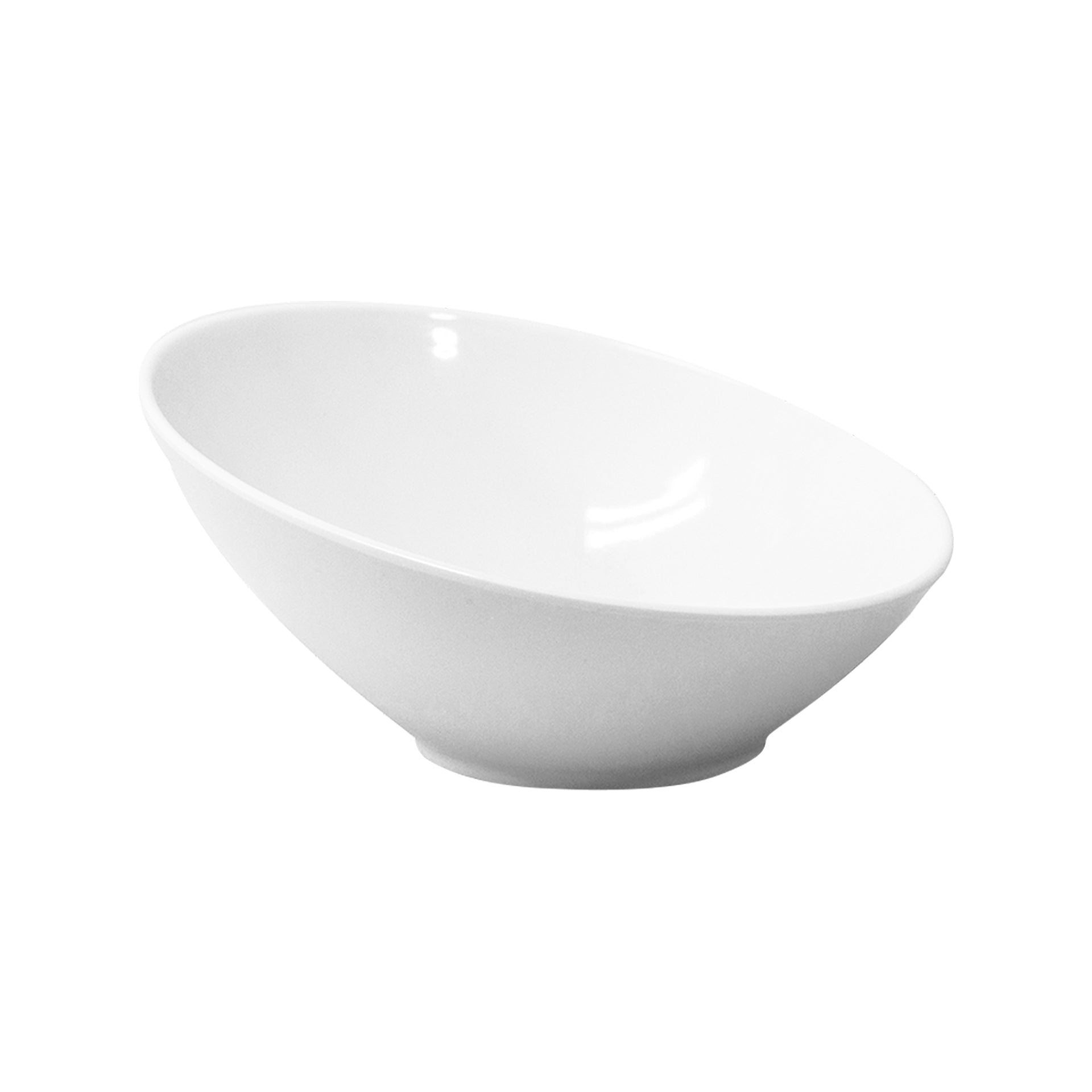 Bowl Inclinado 25 cm|Melamina Blanca
