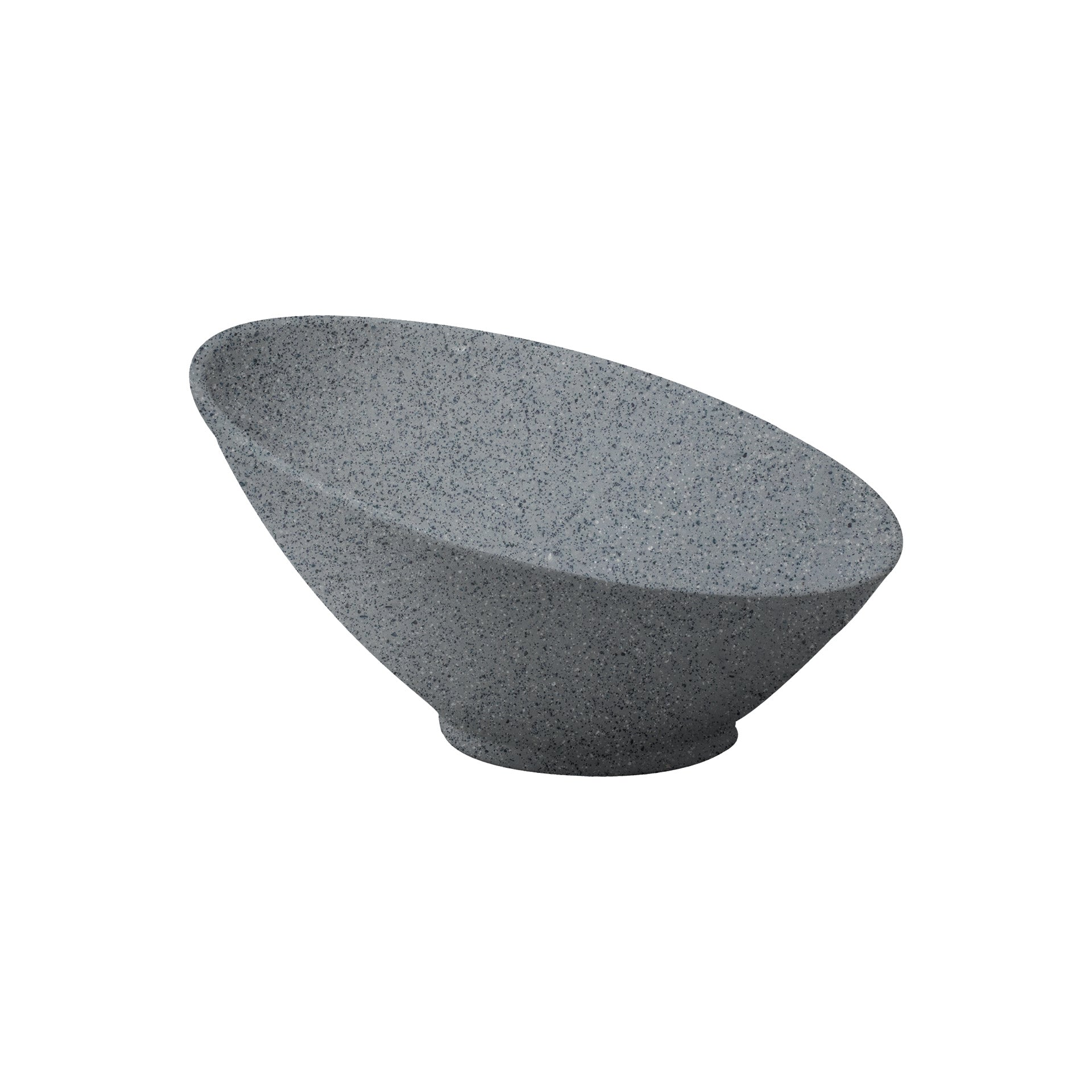 Bowl Inclinado De 21 cm|Melamina Gray Granite