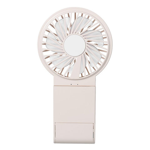 W20 Hanging Neck Fan Holding USB Colorful Night Light Makeup Mirror Mobile Phone Holder Multifunction