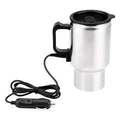 Car Vehicle Heating 304 Stainless Steel Water Cup Kettle Coffee Heated Mug Thermos Thermal Mug Circles Thermos Hydro Flask
