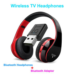 TV Bluetooth Headphones HiFi bluetooth Headphone Deep Bass Wireless TV Headphone with Transmitter Stick For TV Computer Phone