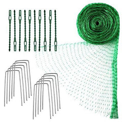 Anti Bird Protection Net Garden Plant Mesh Netting Fruit Trees Netting with Cable Ties and U-Shaped Garden Pegs