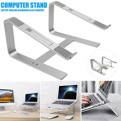 Aluminum Alloy Laptop Stand for Desk Laptop Cooling Bracket Sleek and Sturdy Laptop Riser Silver NK-Shopping
