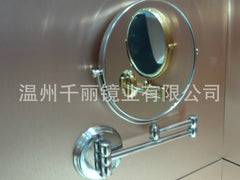 Folding factory direct supply wall mirror copper cosmetic mirror beauty mirror
