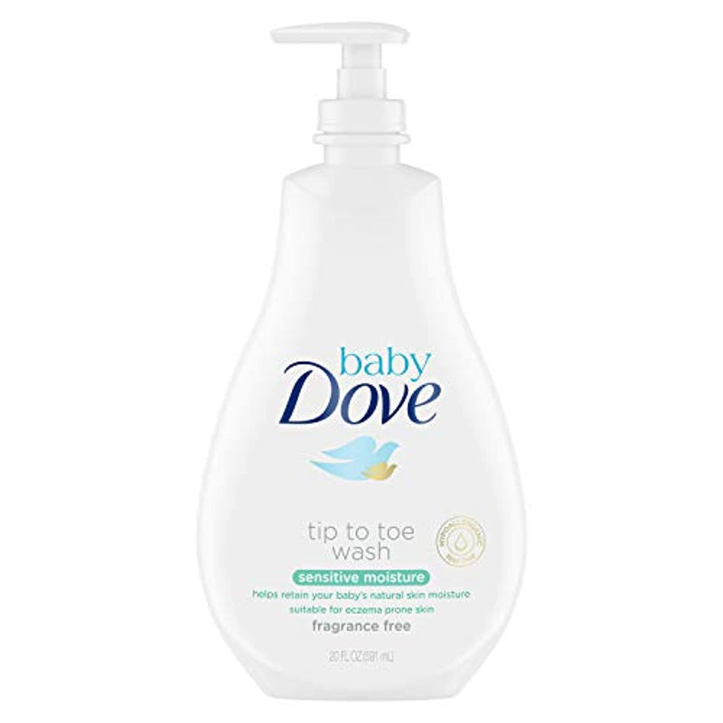 Classier: Buy Baby Dove Baby Dove Tip to Toe Baby Wash Sensitive Moisture 20 oz for Sensitive Skin Washes Away Bacteria, Fragrance-Free Baby Wash