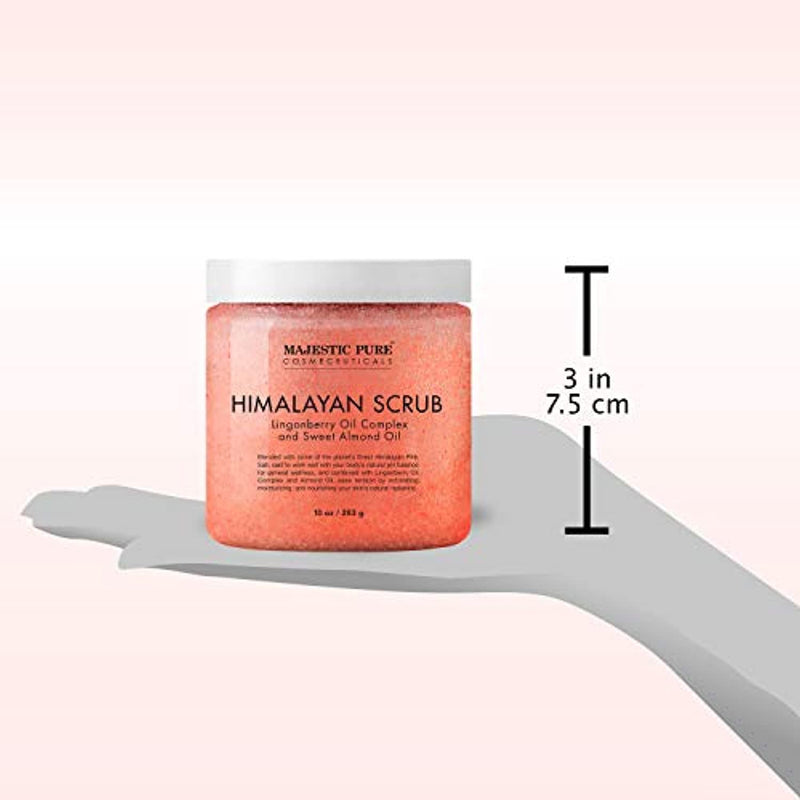 Classier: Buy Majestic Pure Himalayan Salt Body Scrub with Lingonberry, Exfoliating Salt Scrub to Exfoliate & Moisturize Skin, Deep Cleansing for Women and Men - 10 oz