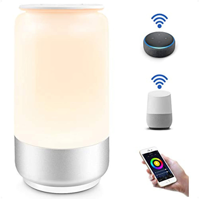 Classier: Buy Lighting EVER WiFi Smart Table Lamp for Bedrooms, LE LampUX Touch Bedside Lamp Works with Alexa Google Home, Modern Dimmable LED Nightstand Lamp, White & RGB Color Changing Night Light for Kids Room, Living Room
