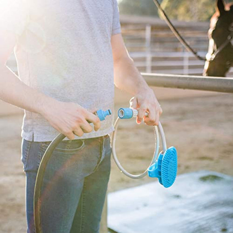 Classier: Buy Aquapaw Aquapaw New Equine Grooming Tool - Bath Curry Sprayer and Scrubber in One for Horse, Large Dog, and Livestock Bathing- Garden Hose Adapter Included