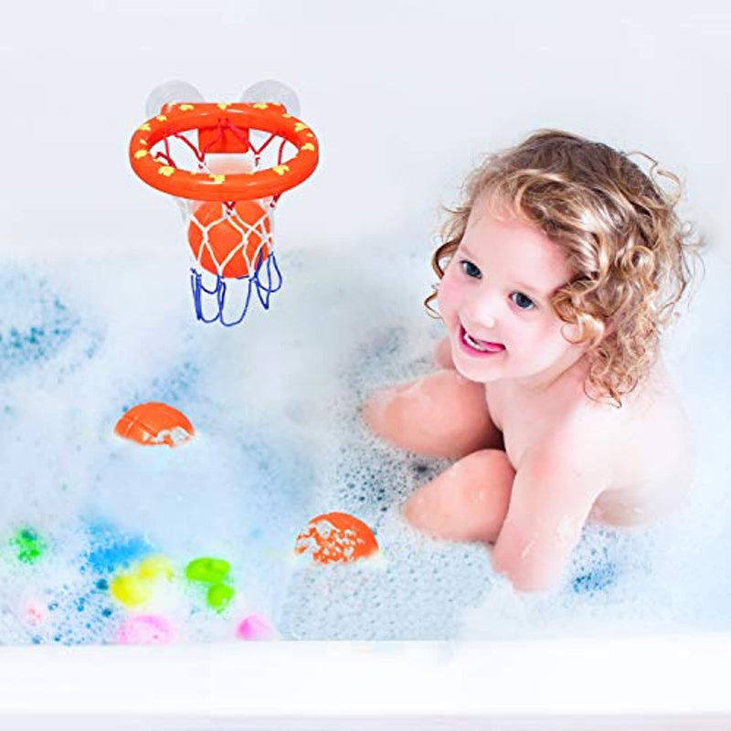 Classier: Buy zoordo zoordo Bath Toys Bathtub Basketball Hoop Balls Set for Toddlers Kids with Strong Suction Cup Easy to Install,Fun Games Gifts in Bathroom,3 Balls Included ( Only Stick on Smooth Surface )
