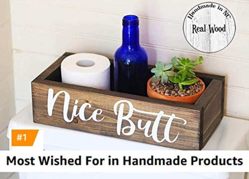 Classier: Buy Everything Rustique Nice Butt Bathroom Decor Box - Toilet Paper Holder - Farmhouse Rustic- Handmade in Boone North Carolina!