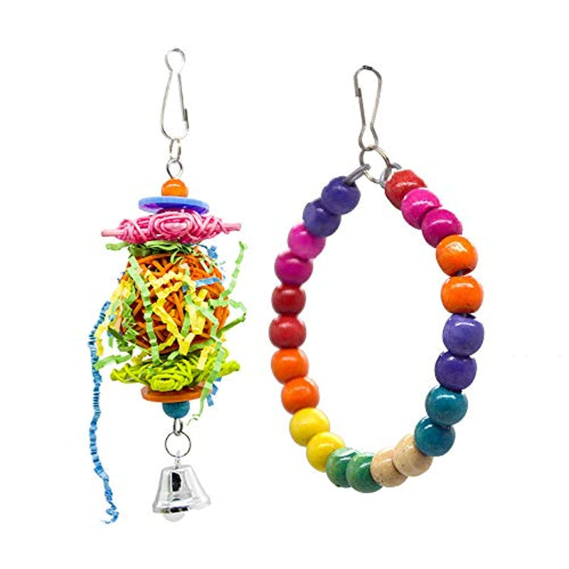 Classier: Buy SHANTU SHANTU 7 Packs Bird Swing Chewing Toys- Parrot Hammock Bell Toys Suitable for Small Parakeets, Cockatiels, Conures, Finches,Budgie,Macaws, Parrots, Love Birds