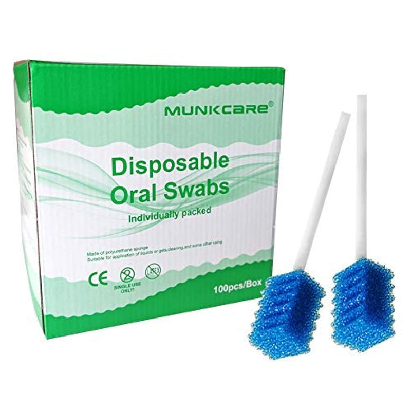Classier: Buy MUNKCARE MUNKCARE Oral Care Swabs Disposable- Blue 100 Counts