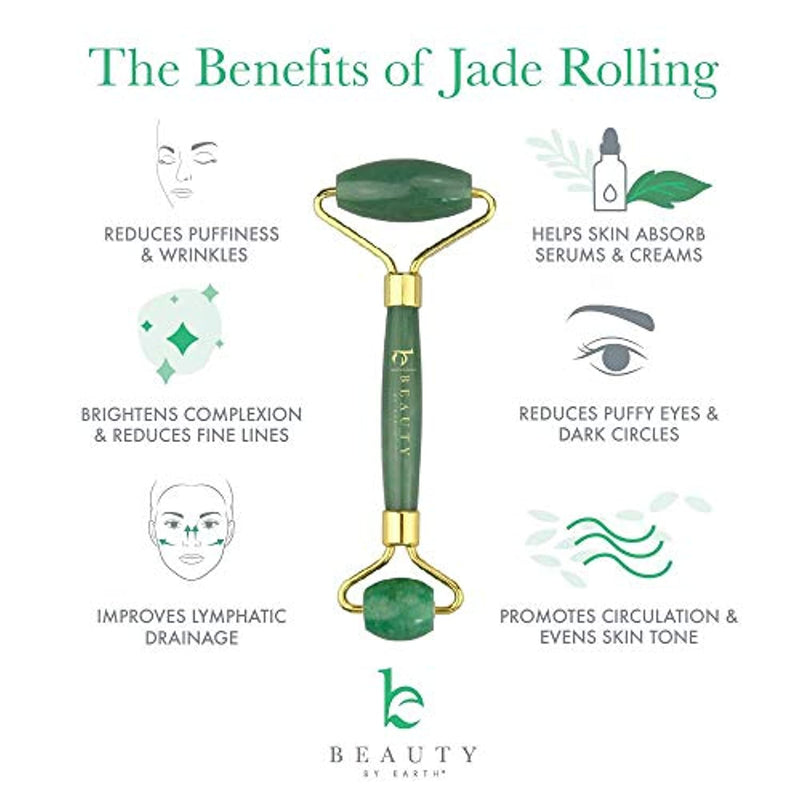 Classier: Buy Beauty by Earth Jade Roller for Face - Face & Neck Massager for Skin Care (1 Pack)