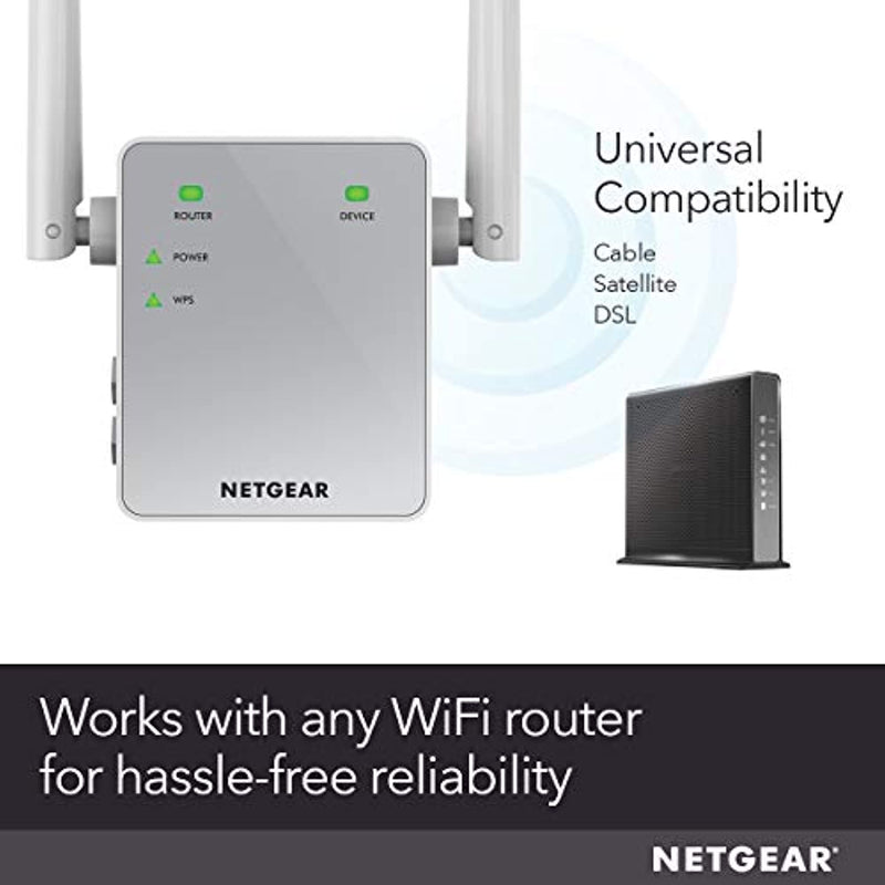 Classier: Buy NETGEAR NETGEAR WiFi Range Extender EX3700 - Coverage up to 1000 sq.ft. and 15 devices with AC750 Dual Band Wireless Signal Booster & Repeater (up to 750Mbps speed), and Compact Wall Plug Design