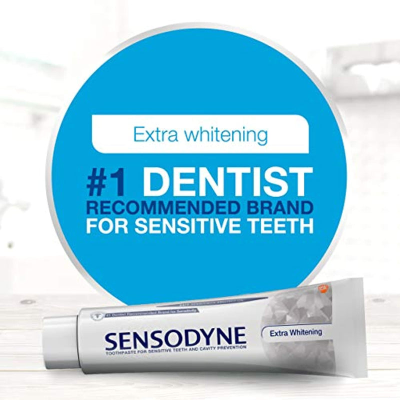 Classier: Buy Sensodyne Sensodyne Sensitivity Toothpaste, Extra Whitening, for Sensitive Teeth, 24/7 Protection, 4 ounce (Pack of 2)