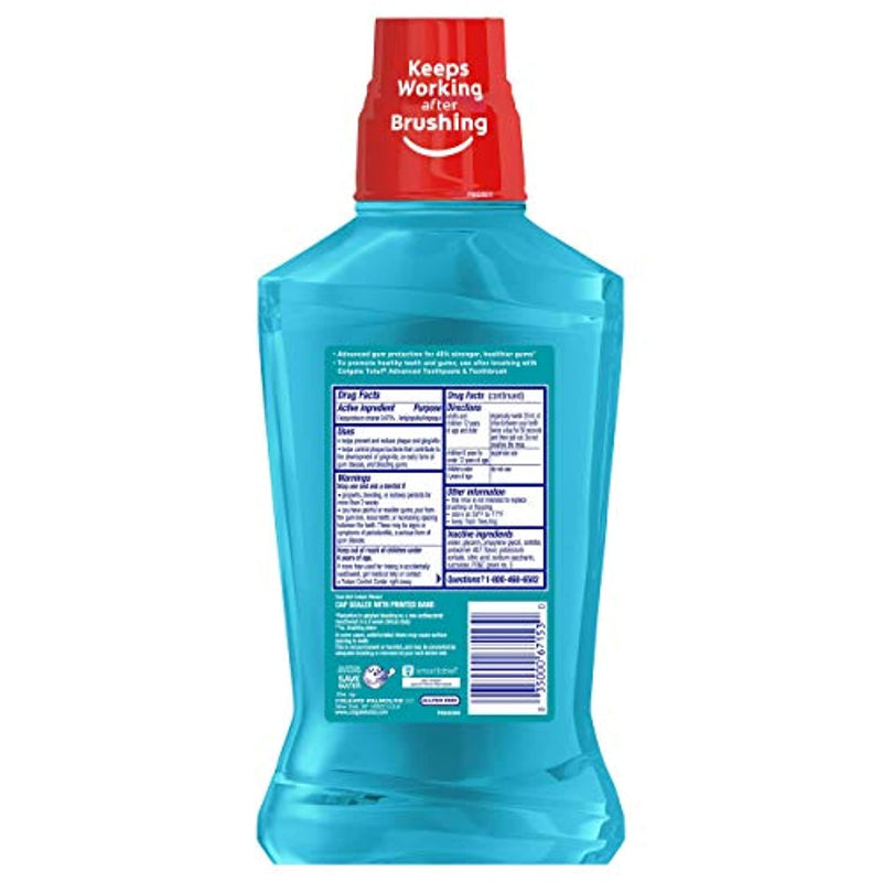 Classier: Buy Colgate Colgate Total Gum Health Alcohol Free Mouthwash, Antibacterial Formula, Clean Mint - 500 mL, 16.9 Fluid Ounce