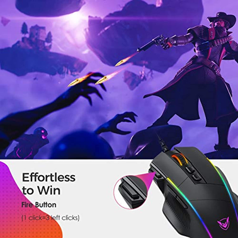 Classier: Buy VicTsing VicTsing Ergonomic Wired Gaming Mouse, 8 Programmable Buttons , 5 Levels Adjustable DPI up to 8000, Wired Computer Gaming Mice with 7 RGB Backlight Modes for PC, Laptop, MacBook