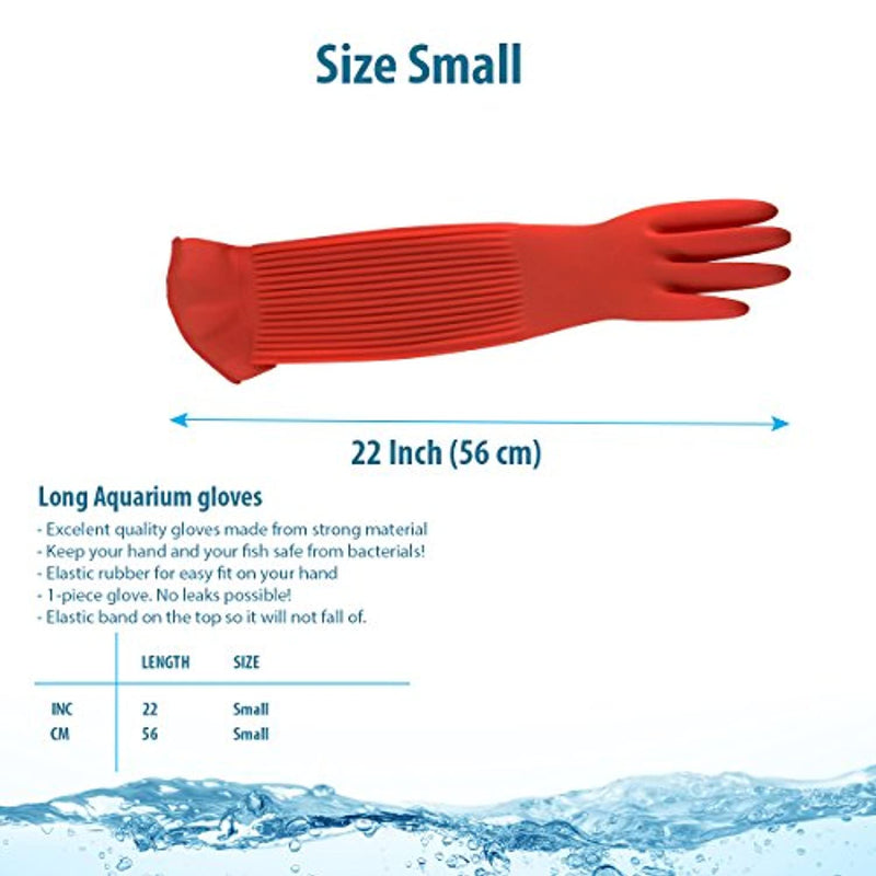 Classier: Buy Wallko's pet store Wallko's pet store Aquarium Gloves for Fish Tank Maintenance – 22 inch Long Rubber Gloves Keep Your Hands and Arms Dry. Increases Comfort in Daily Aqua Maintenance. Medium Sized.