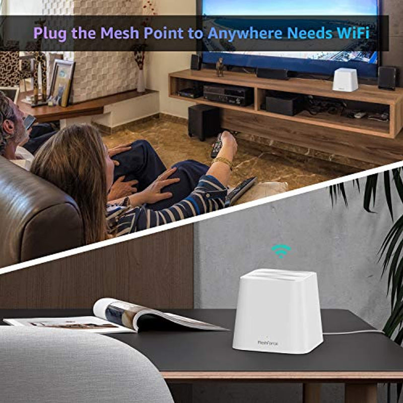 Classier: Buy Meshforce Meshforce M1 Whole Home Mesh WiFi System (1 Pack) – 2020 Upgraded WiFi Performance –Dual Band Wireless Mesh Router- Max WiFi Coverage 6+ Bedrooms (1 Pack)